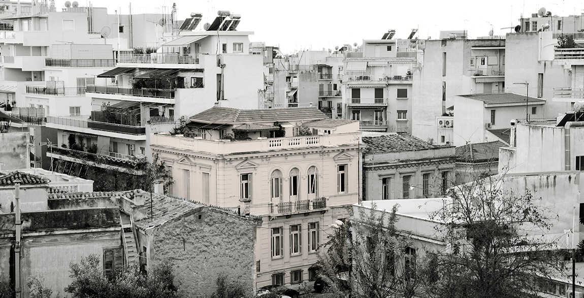 The SIA Building at Athens and the surroundings. Photo: Vasilis Theodorodou