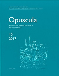 <p>Annual of the Swedish Institutes at Athens and Rome, vol. 10, 2017.</p>